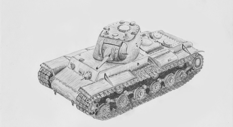 Speed drawing KV-1